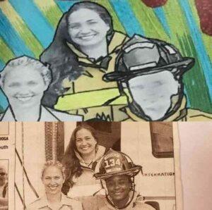 Clemons, Boynton Beach, firefighter, whitewashed, mural
